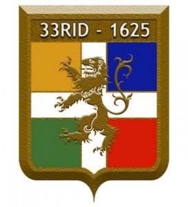 blason 33e regiment d'infanterie - 33ri