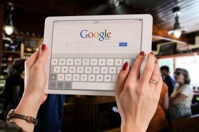 recherche Google sur tablette tactile